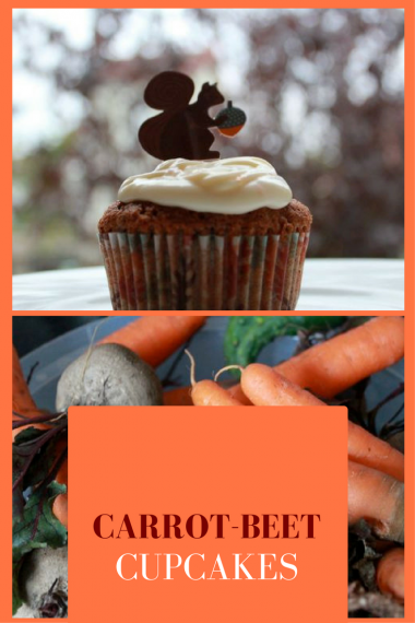 Carrot-beet cupcakes with cream cheese frosting. A perfect cupcake for fall.