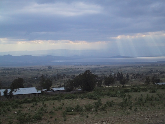 The rift valley in Kenya.