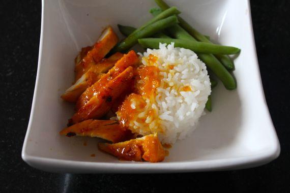 Chicken Confit With Orange-Saffron Glaze