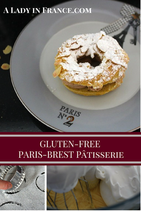 Paris-Brest pâtisserie gluten-free with step-by-step instructions by @aladyinfrance