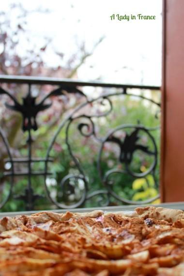 gluten-free French apple tarte