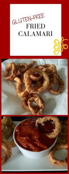 Tastes like restaurant food! These gluten-free fried calamari rings are made with corn flour and chick pea flour. They are divine with a simple, homemade marina sauce.