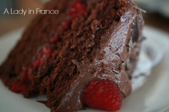 gluten-free vegan chocolate raspberry cake