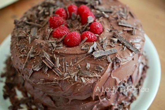 Vegan & Gluten-Free Chocolate Raspberry Cake