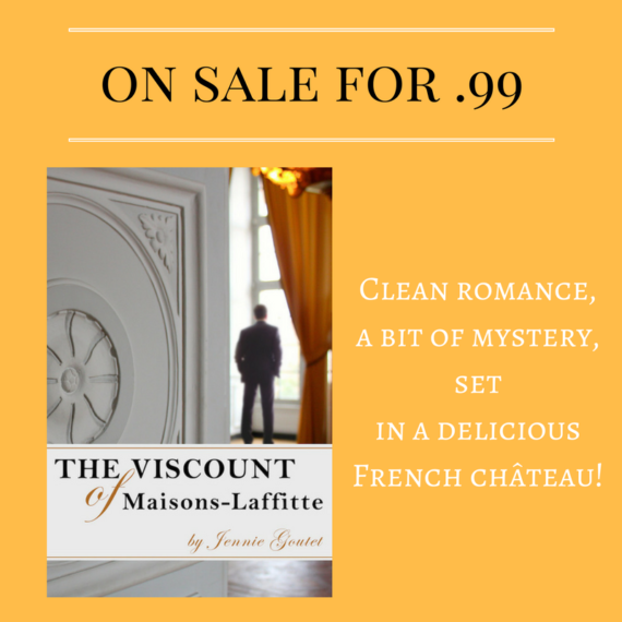 Clean romance, a bit of mystery. Set in a delicious French château. On sale for .99 this week!